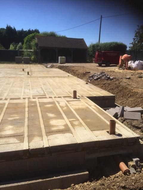 Block & beam laid at Cobb Cottage